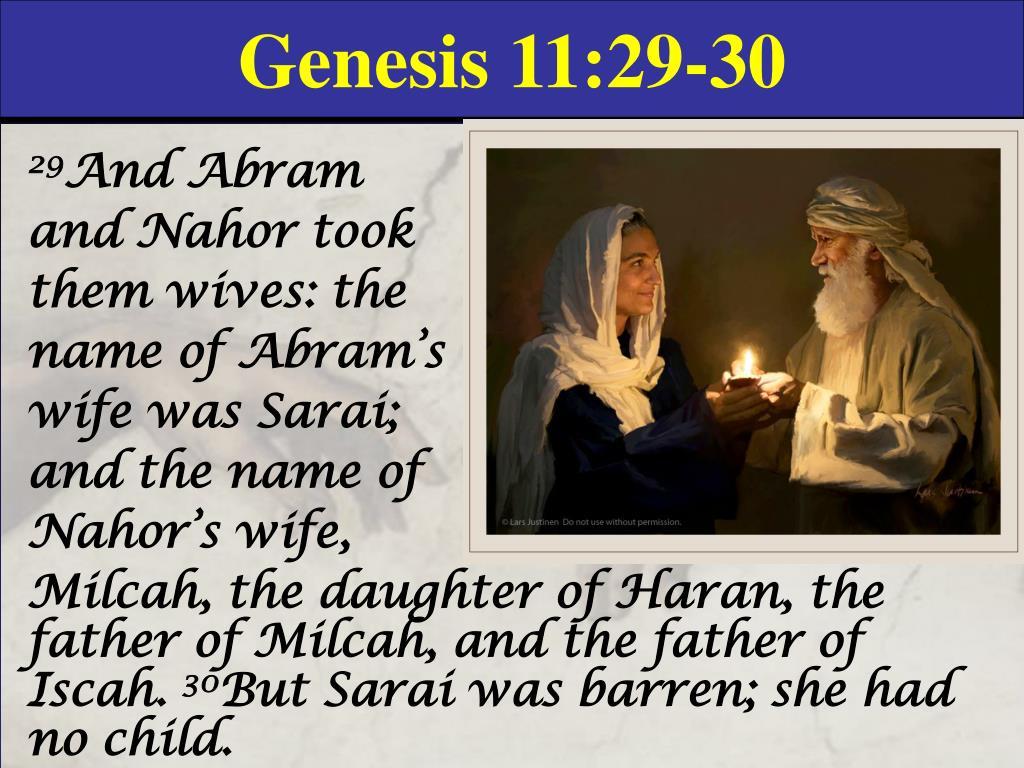 Genesis 11:29-30