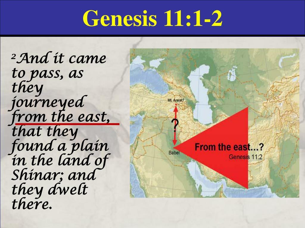 Genesis 11:1-2
