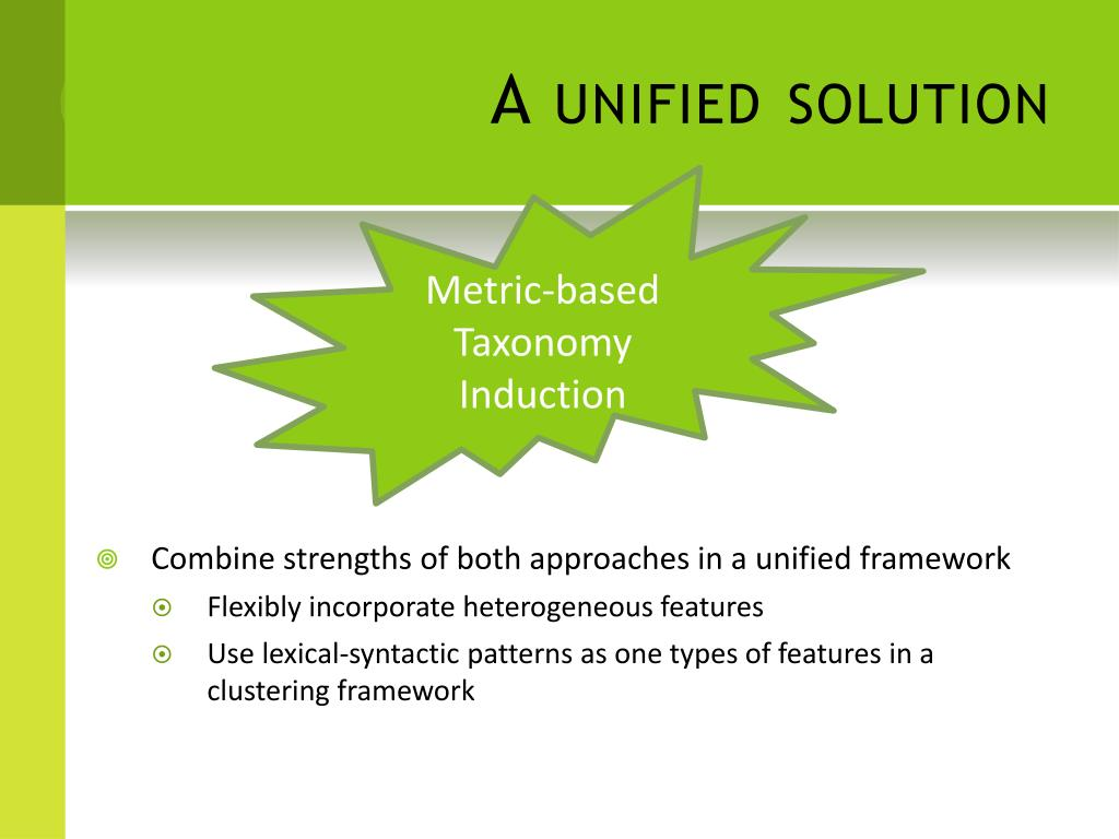 A unified solution