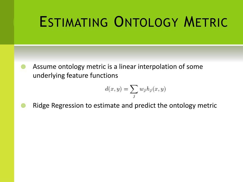Estimating Ontology Metric