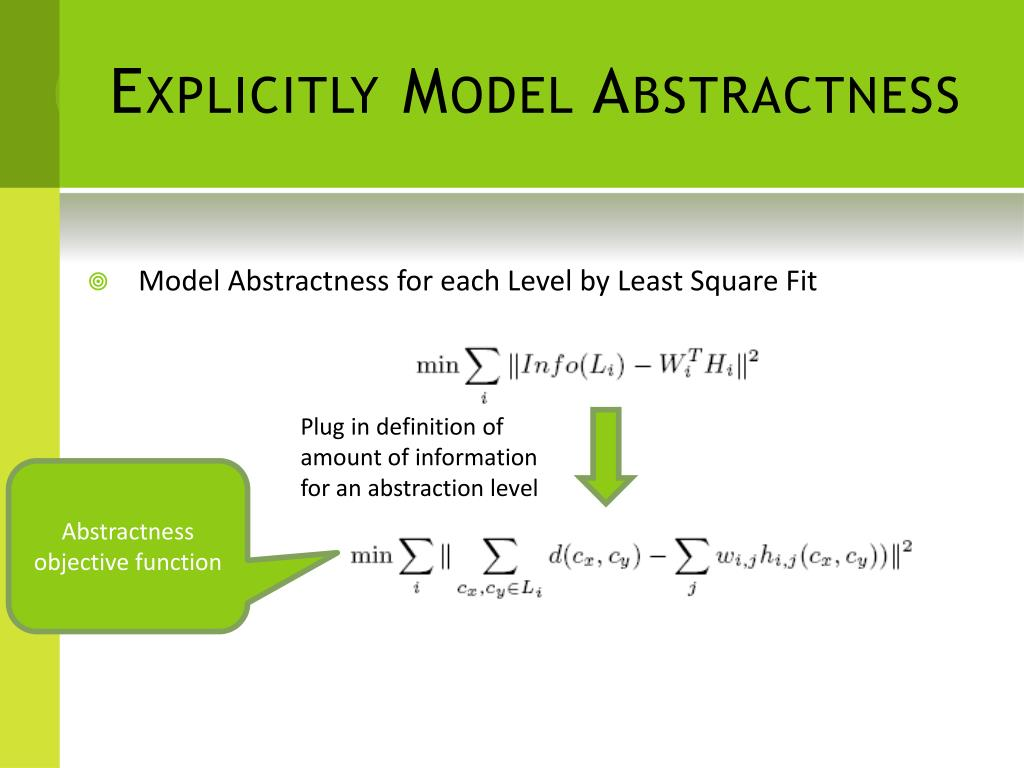 Explicitly Model Abstractness