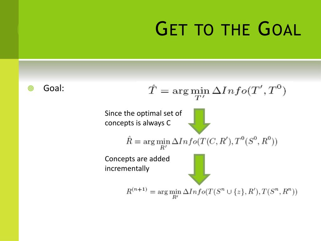 Get to the Goal