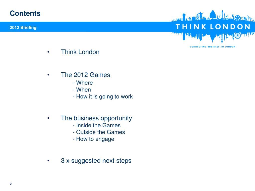 2012 Briefing