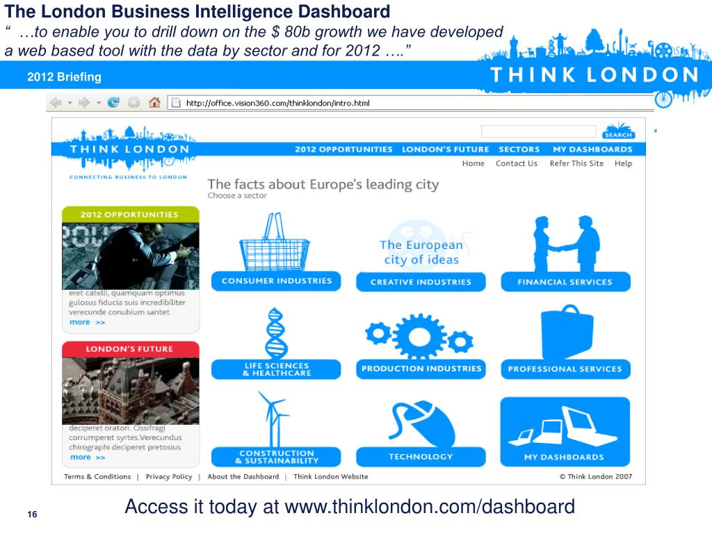The London Business Intelligence Dashboard