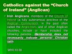 catholics against the church of ireland anglican