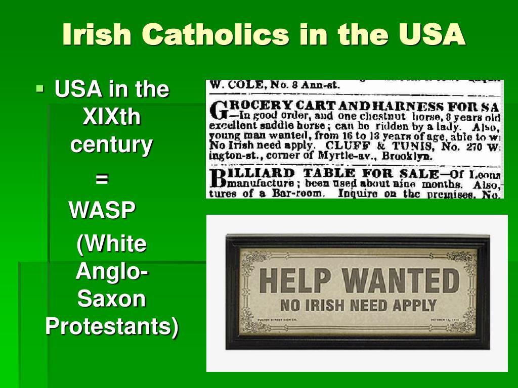 Irish Catholics in the USA