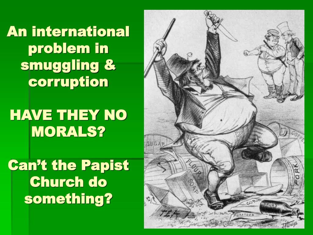An international problem in smuggling & corruption