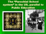 the parochial school system in the us parallel to public education
