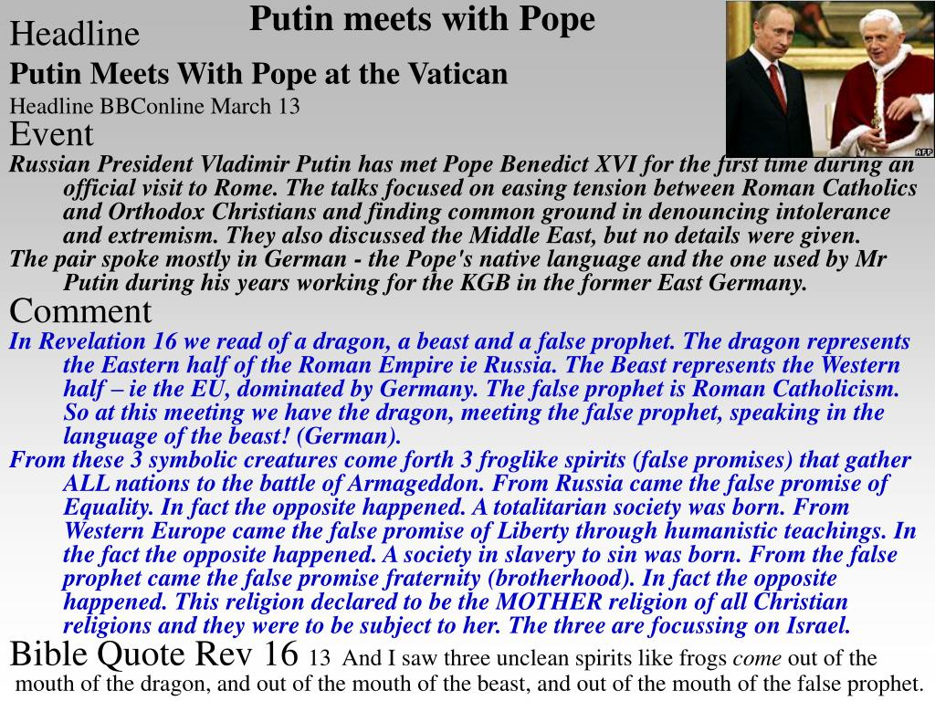 Putin meets with Pope