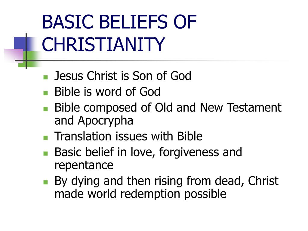 BASIC BELIEFS OF CHRISTIANITY