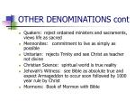 other denominations cont