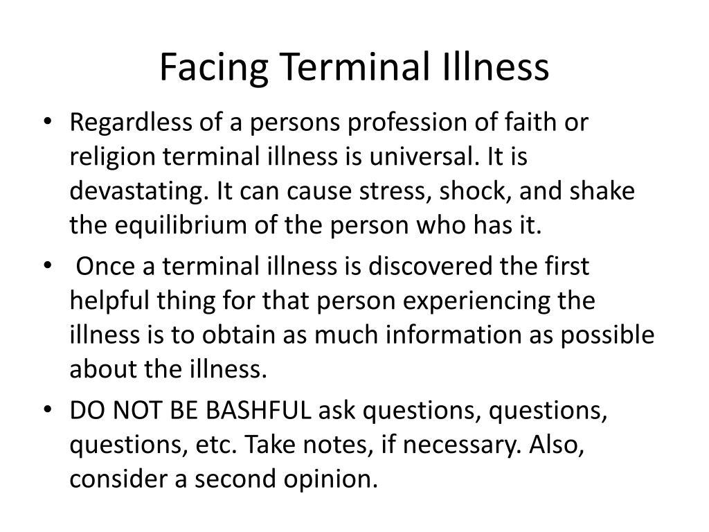 Facing Terminal Illness