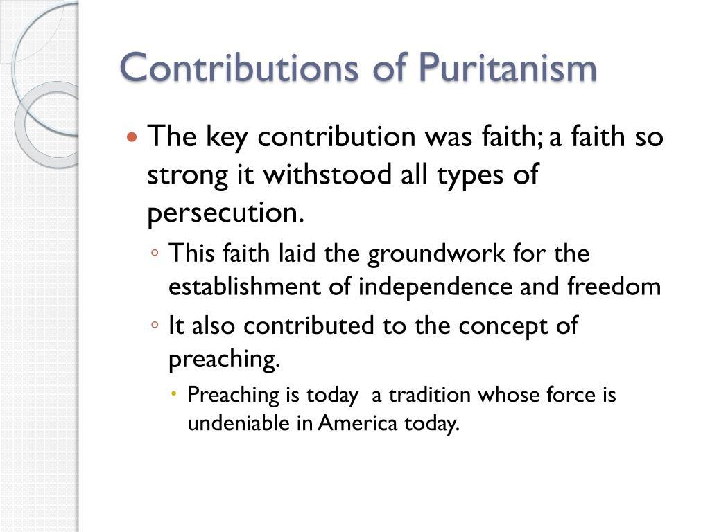 Contributions of Puritanism