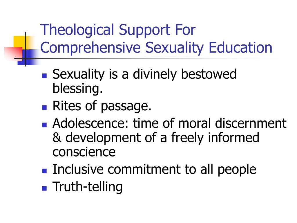 Theological Support For  Comprehensive Sexuality Education