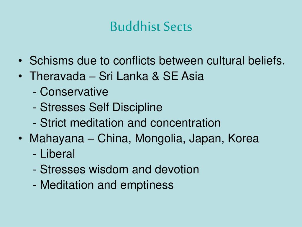 Buddhist Sects