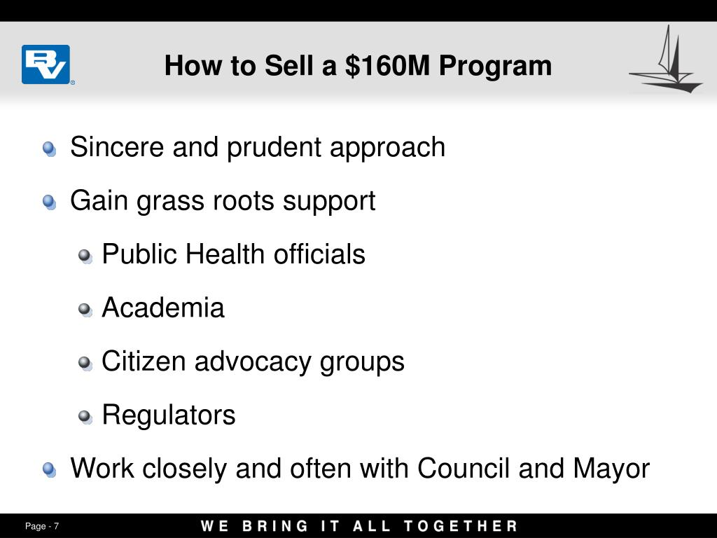 How to Sell a $160M Program