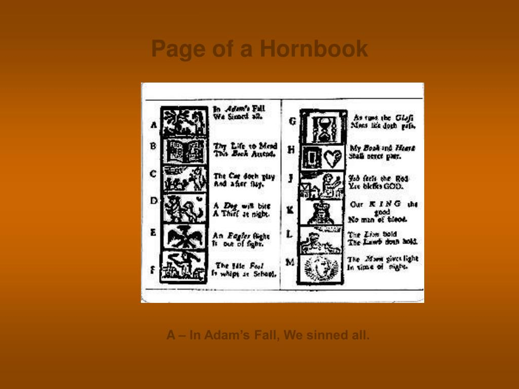 Page of a Hornbook