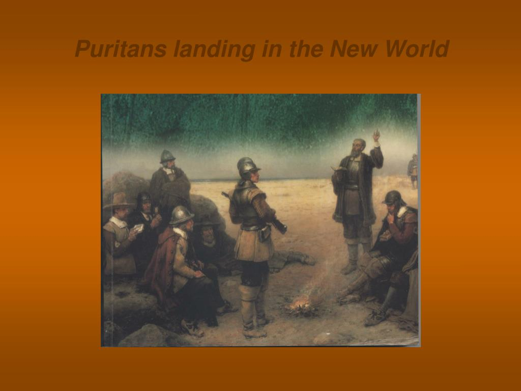 Puritans landing in the New World