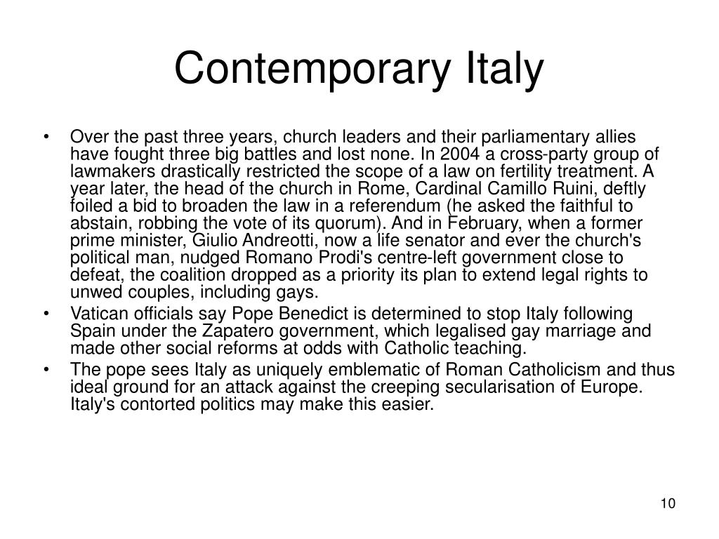 Contemporary Italy