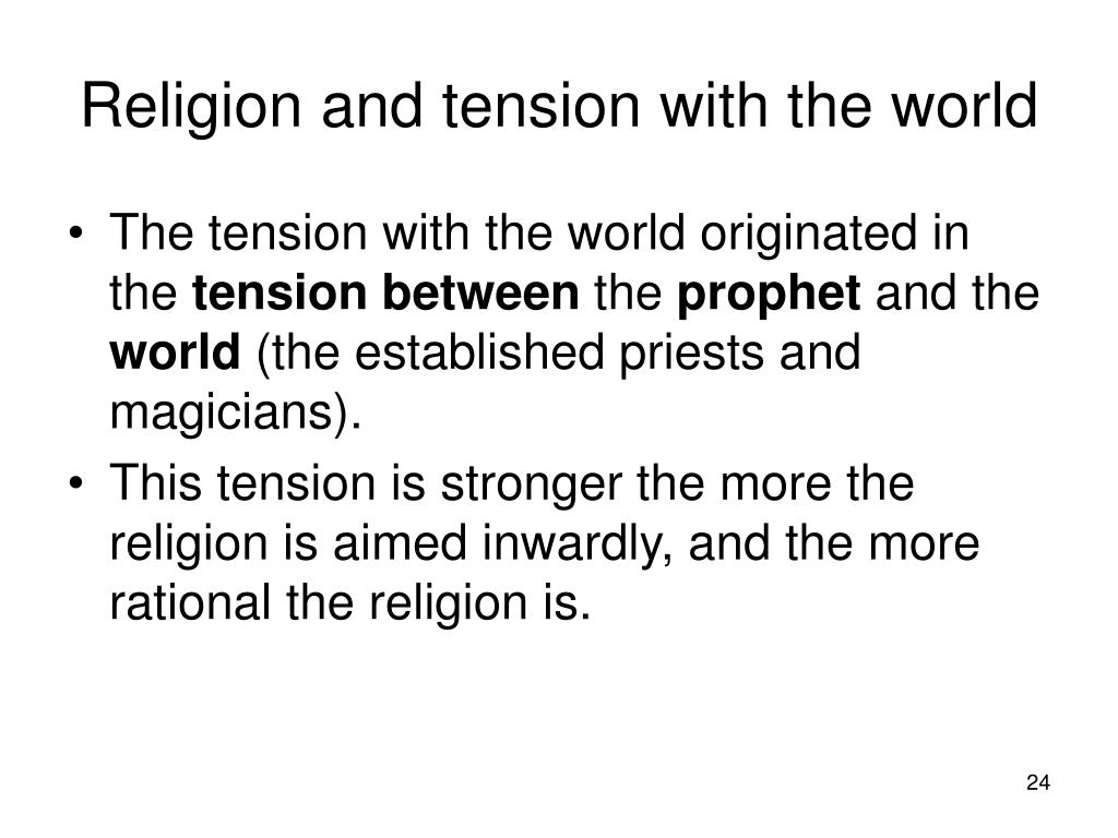 Religion and tension with the world