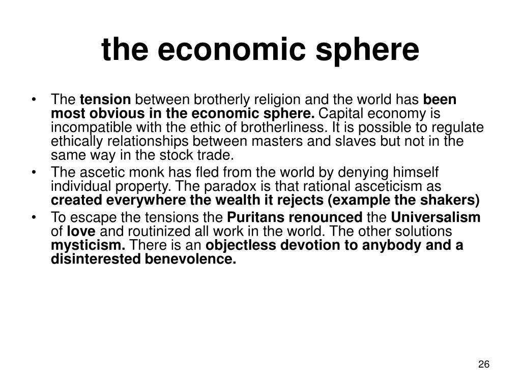 the economic sphere