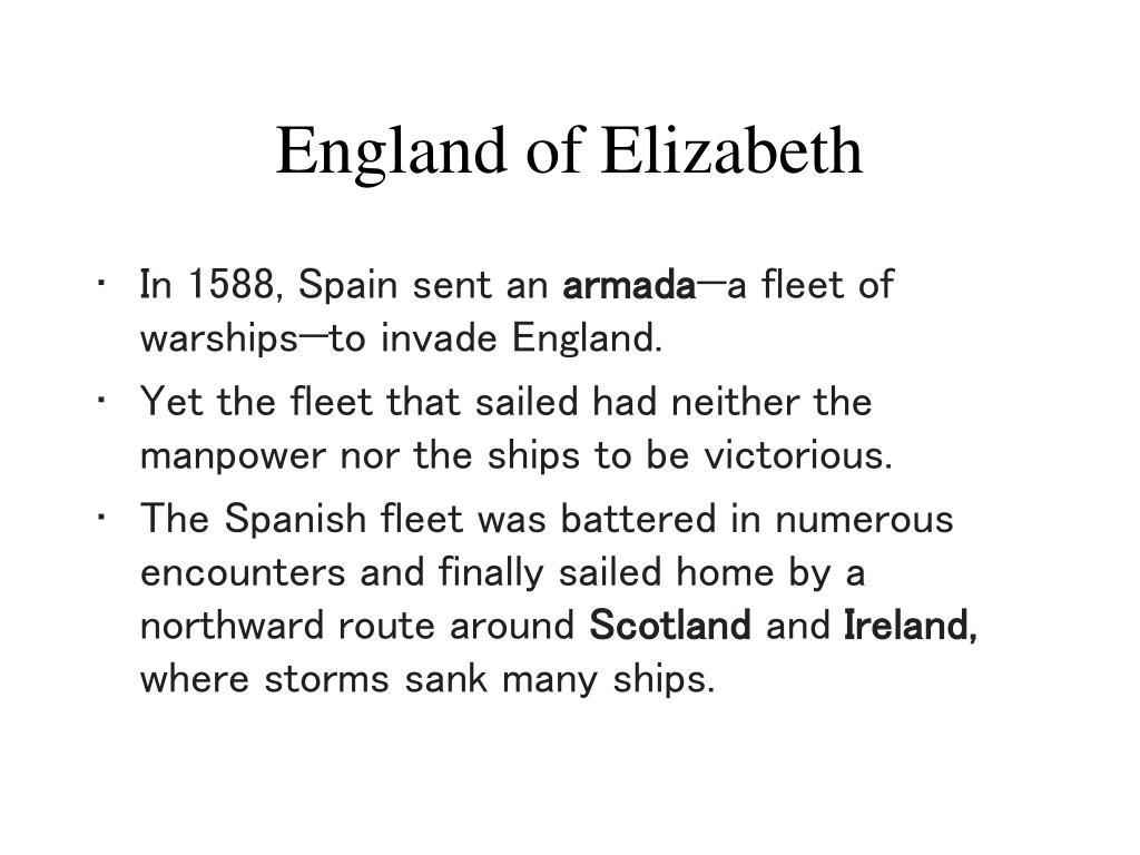England of Elizabeth