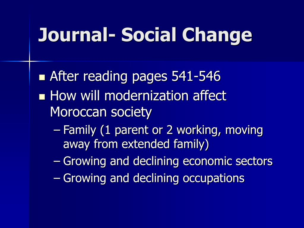 Journal- Social Change