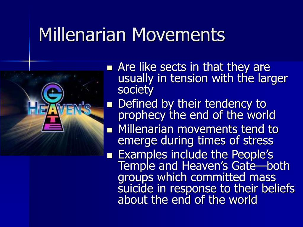 Millenarian Movements