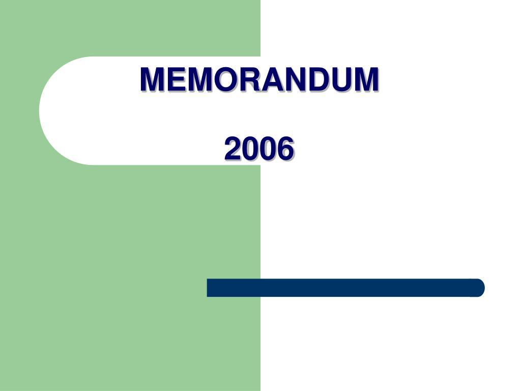 MEMORANDUM