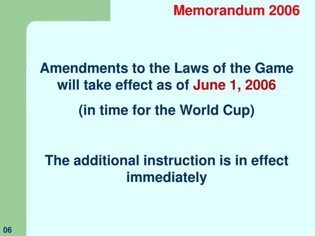 Memorandum 2006