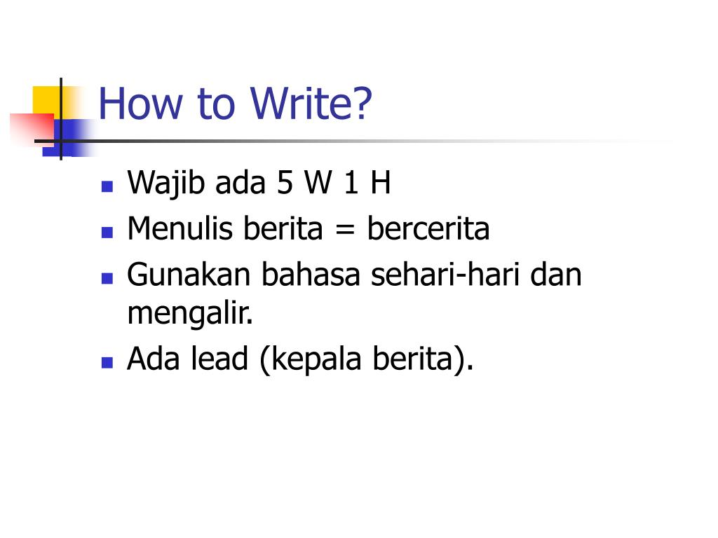 How to Write?