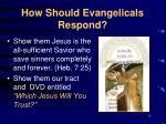 how should evangelicals respond15
