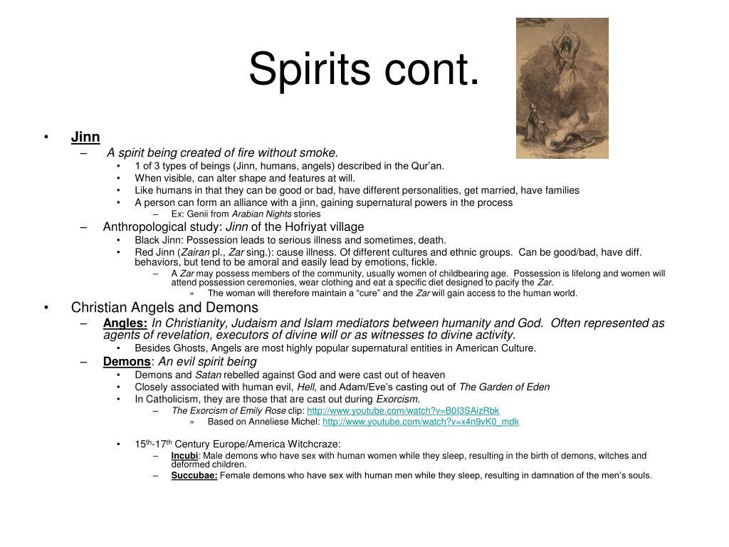 Spirits cont.
