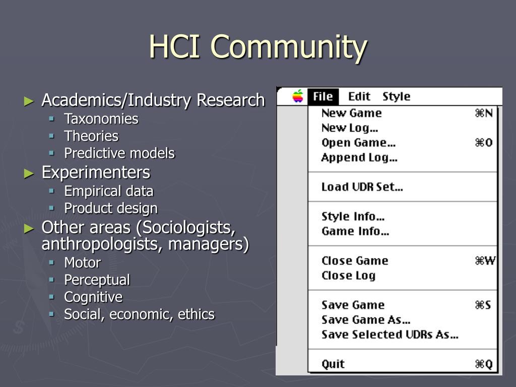 HCI Community