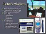 usability measures