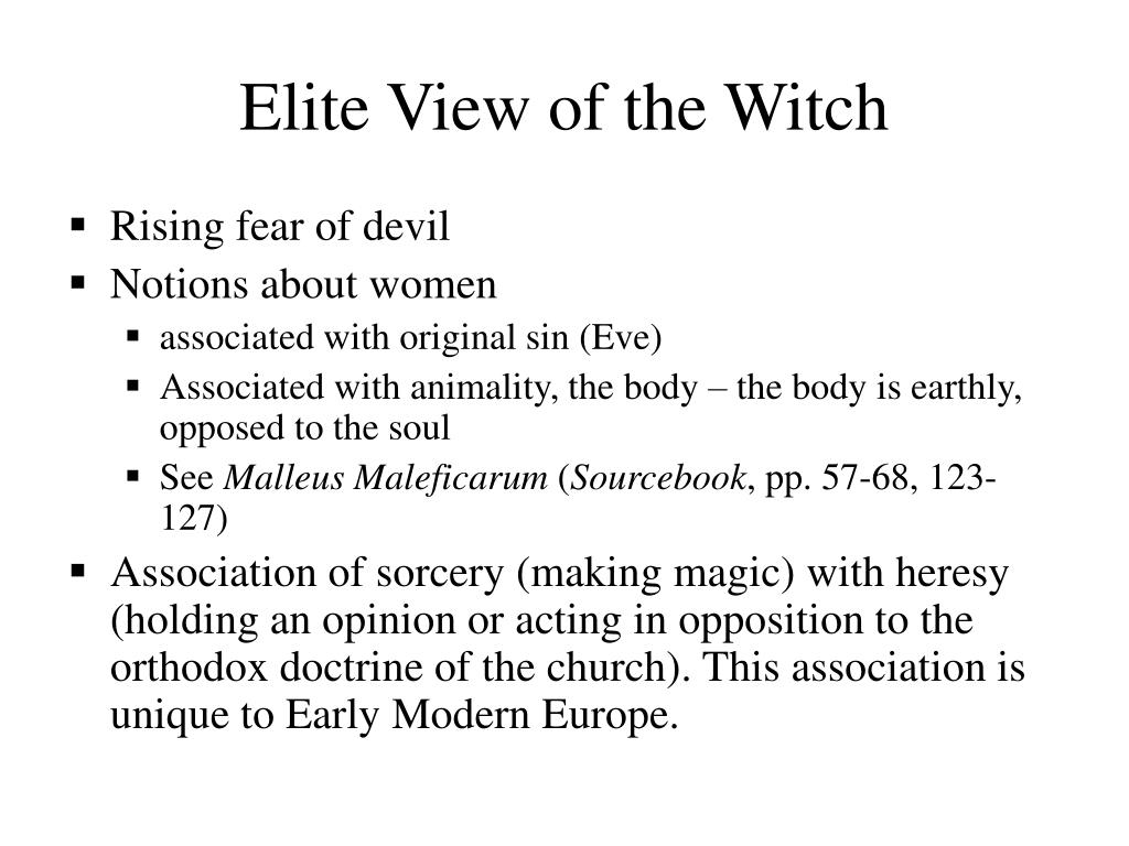 Elite View of the Witch