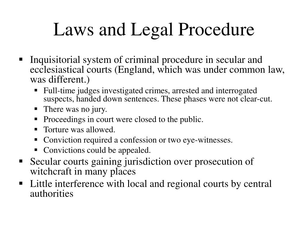 Laws and Legal Procedure