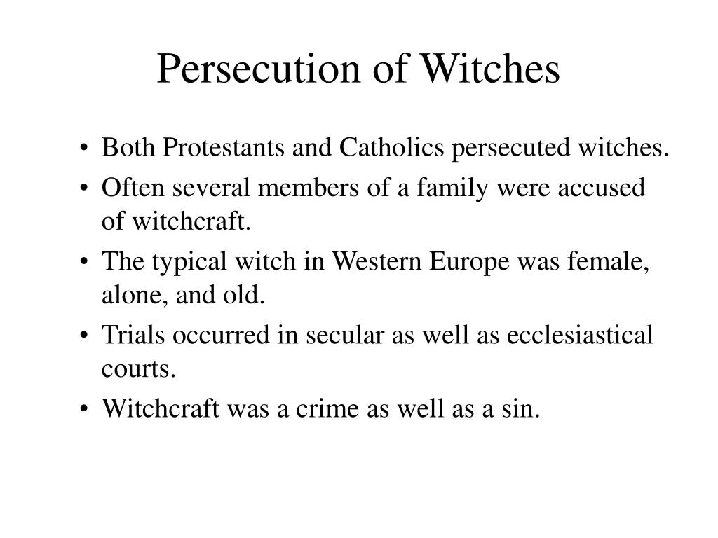Persecution of Witches