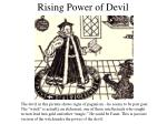 rising power of devil