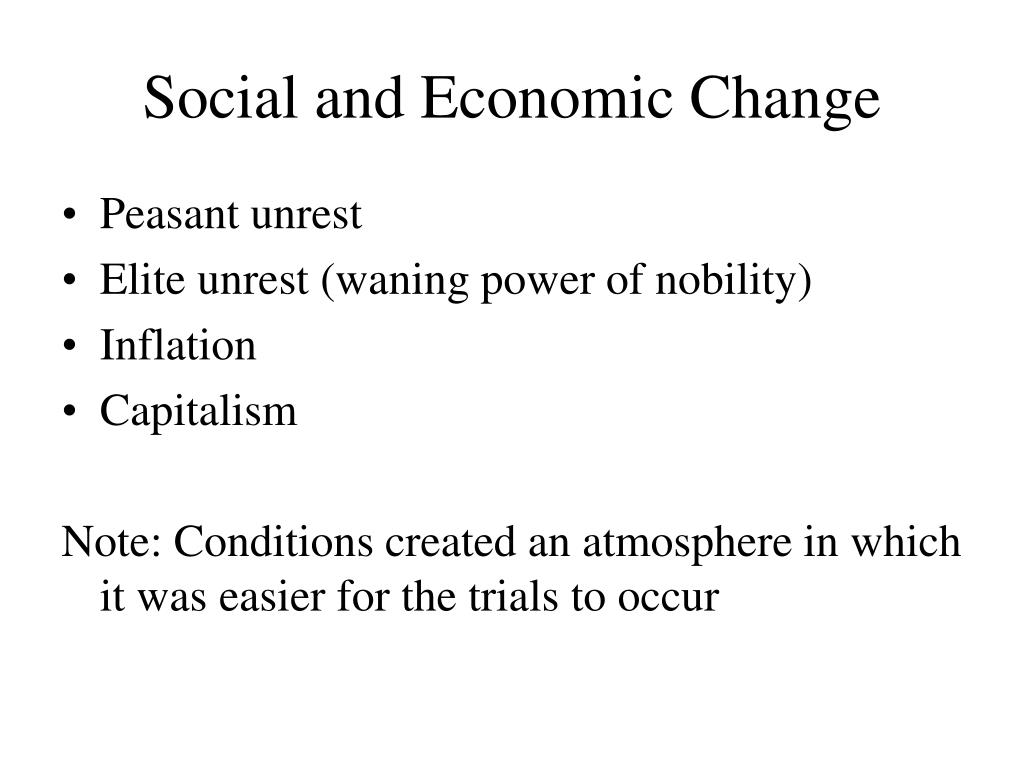 Social and Economic Change