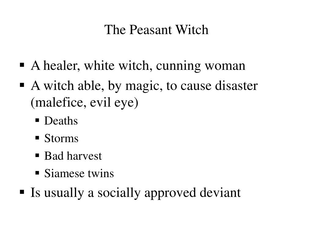 The Peasant Witch