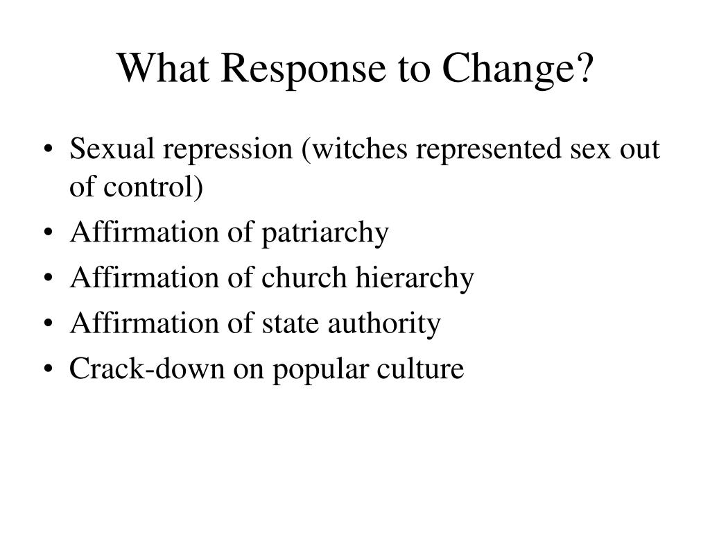 What Response to Change?