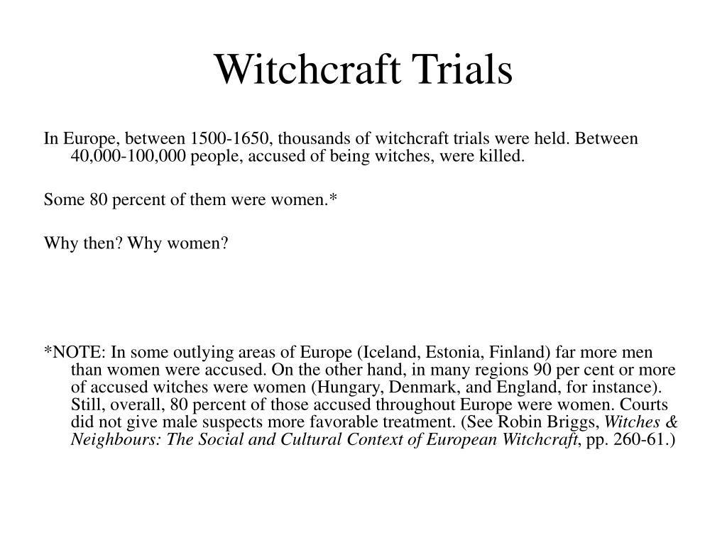 Witchcraft Trials