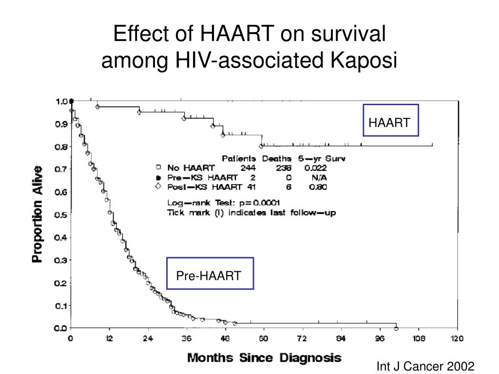 Effect of HAART on survival