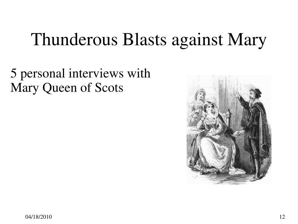 Thunderous Blasts against Mary