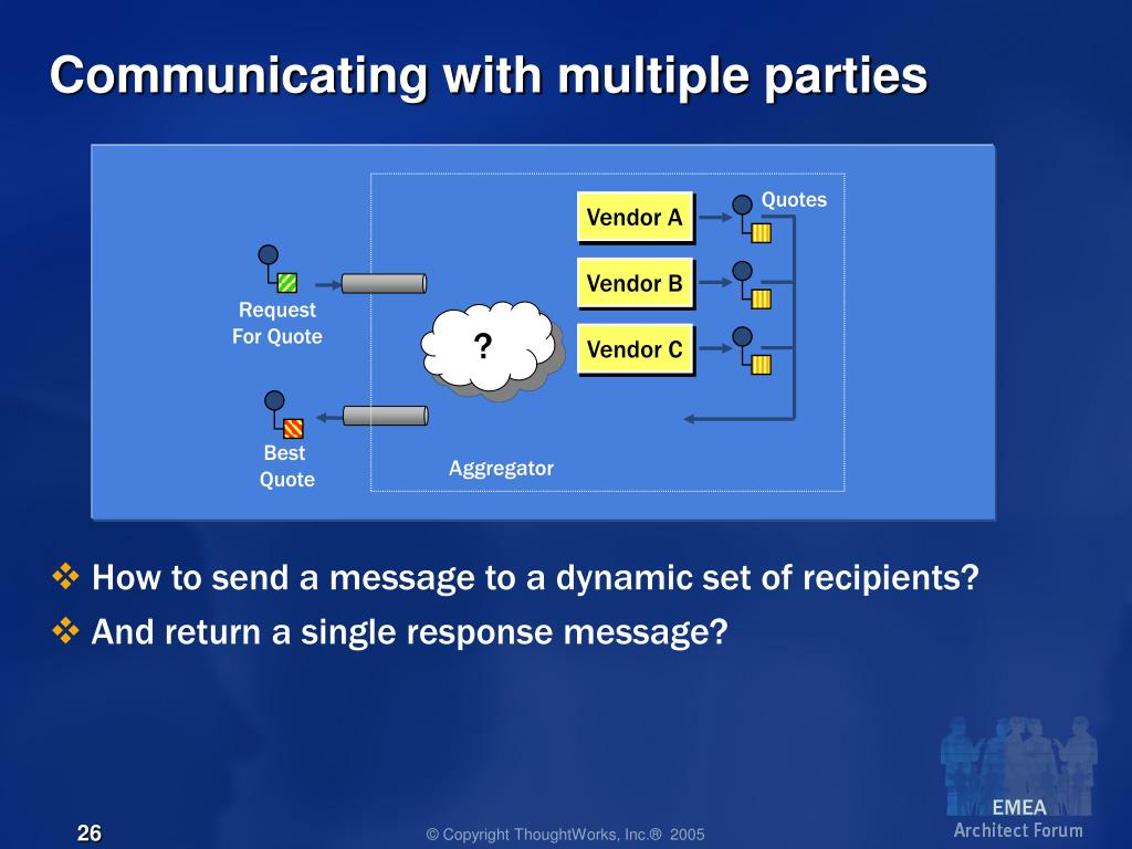 Communicating with multiple parties
