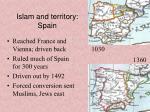 islam and territory spain
