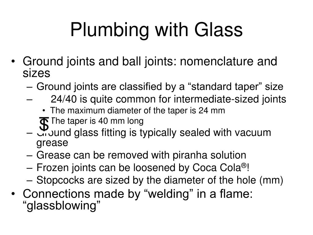 Plumbing with Glass