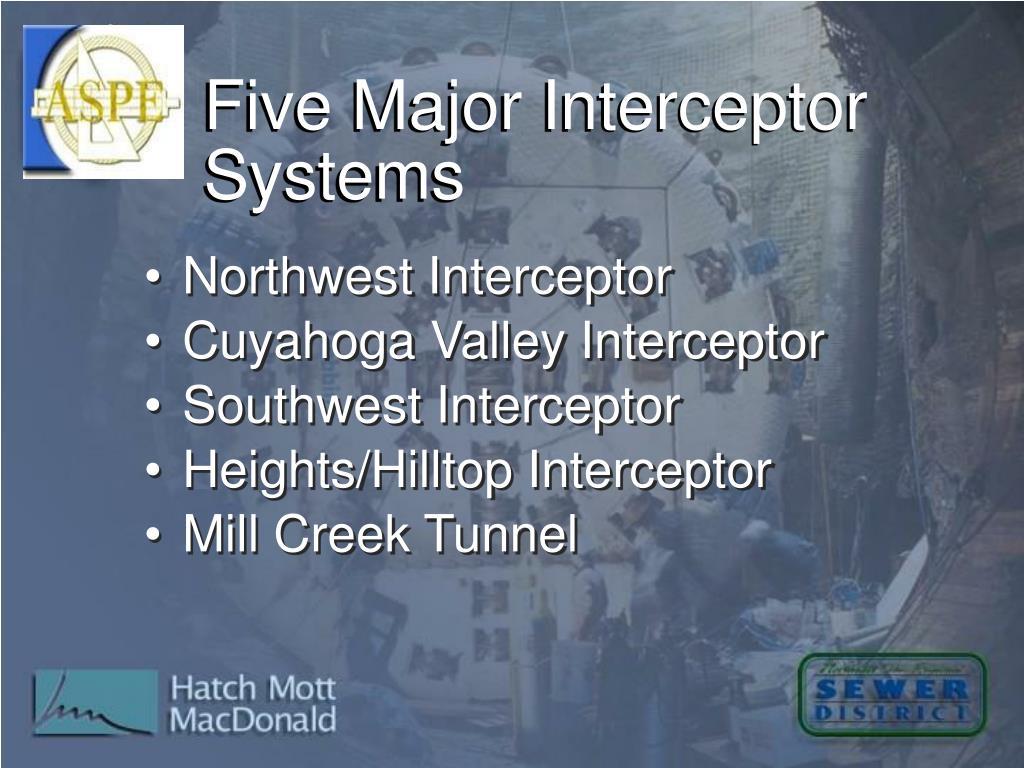 Five Major Interceptor Systems
