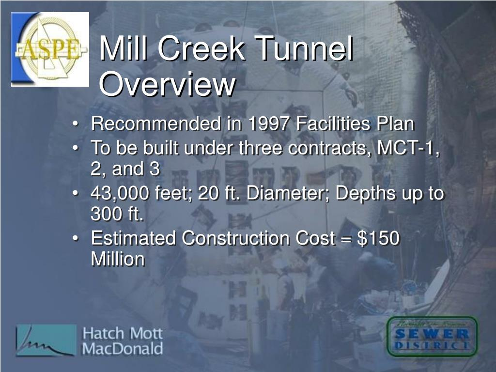 Mill Creek Tunnel Overview